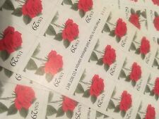 10 Red Rose Stamps To Dress Up Your Mail Perfect For Wedding &Holiday Letters