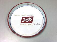 Schlitz beer serving tray sign tin metal 1958 Schlitz brewery bar pub tavern WO9