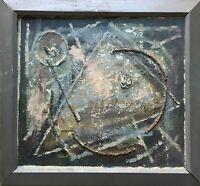 KOMPOSITION MIT DREIECK - AG 1964 - MODERN ART - COLLAGE - 41 X  44 CM