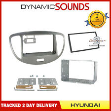 CT23HY25 Silver Double Din Facia Adapter Panel For Hyundai I10 2008 To 2013