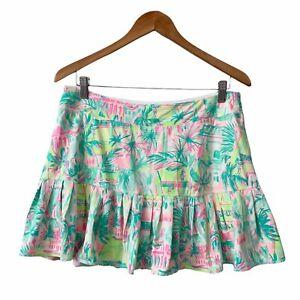 NWT Lilly Pulitzer UPF 50+ Luxletic Meryl Nylon Taye Skort Skirt Size L