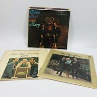 Lot of 3 Peter, Paul & Mary LP Albums - In The Wind, Movin', Self Titled (Folk)