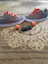 Gray And Orange Boys Size 5 Heelys Wheeled Shoe