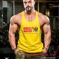 Men Gym Training Summer Bodybuilding Muscle Cotton Stringer Casual Tank Top Vest