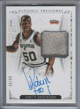 DAVID ROBINSON SNEAKER SWATCH AUTOGRAPH #/60 2013-14 NATIONAL TREASURES