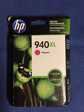 HP 940XL Magenta Ink Cartridge HIGH-YIELD C4908AN Genuine New Sealed Exp 2017