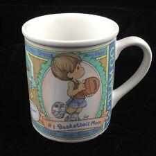 Vintage Precious Moments Mug 1998 #1 Basketball Mom Mothers Day Gift Htf!
