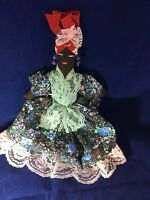 "Vintage Cloth Doll Brazil Bahia14"""