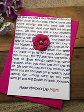 Large Personalised Handmade Mother's Day Card - Children Words Mum Nan Mother