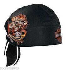 Harley-Davidson Live To Ride Eagle Head Wrap Black HW00930