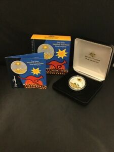 2009 Selectively Gold Plated $1 Aust Artist Series KEN DONE Silver Kangaroo