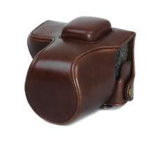 Kameratasche Etui für Olympus E-PL7 / E-PL8 Kunstleder Tasche coffee CC1374b