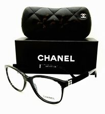 New Chanel Eyeglasses 3267 1443 Marbled Black 52•16•140 With Case.