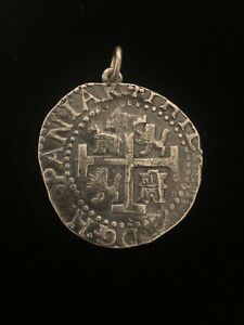 RARE JAMES AVERY STERLING SILVER PIECES OF EIGHT COIN PENDANT— RETIRED
