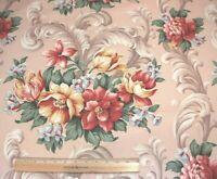 "Vintage c1948 Never Used Floral Cotton Home Dec Fabric~L-38"" X W-50"""