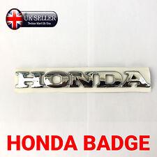 1x NUOVO CHROME HONDA 3d lettera Badge, Logo, Adesivo, Decalcomania, Adesivo, Auto