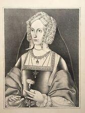 Anne boleyn imprimer, après une peinture de la holbein chambre à strawberry hill