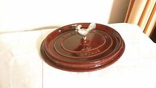 STAUB COCOTTE 5.75 QT QUART CAST IRON  WILLIAMS-SONOMA RED --Lid ONLY