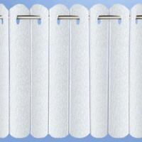 White Pleated Blind Voile Lace Vertical Panel Blinds Ready Made Net Curtains
