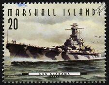 USS ALABAMA (BB-60) South Dakota Class Battleship Warship Stamp (1997)