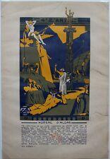BAL 4'Z'ARTS très rare Affichette 47x32 cm Homère d'Alors 1914 signée G. Giraud