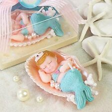 AiXiAng Handmade Mermaid Style Smokeless Candle Cake Topper Baby Shower Favors