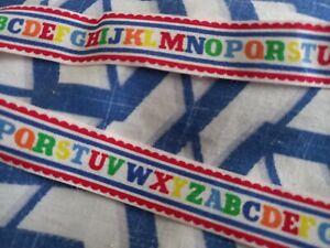 Alphabet  Ribbon  - Cotton - 2 metres - Width 18mm