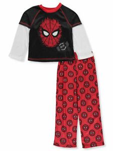 SPIDER-MAN FAR FROM HOME Fleece Bottom Pajamas Sleepwear Set NWT Boys Sz. 4