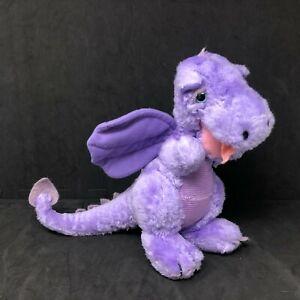 "Dakin Dragon Plush Purple 9"" Lilac Nature Babies 1983 Stuffed Animal Vintage"