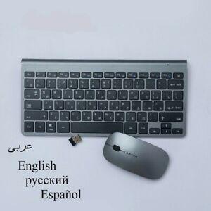 Wireless Keyboard With Mouse Combo Set Mini Desktop Computer Laptop Gaming Slim