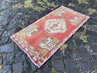 Bohemian rug, Vintage rug, Small rug, Handmade rug, Decor rug   1,4 x 2,9 ft