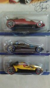 Hot Wheels 2007 Designer's Challenge Honda Racer Black Red & Yellow  you get 3