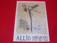 [Coll. R-JEAN MOULIN ART XXe] René ALLIO / AFFICHE LARA VINCY 1961 LITHO Rare!
