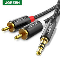 Ugreen 2RCA to 3.5mm Audio Cable HiFi Stereo RCA Cord Splitter For Amplifiers TV