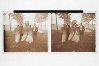 A Mariage Foto N2 Placca Stereo 6x13cm Vintage