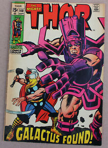 MARVEL THE MIGHTY THOR #168 GALACTUS FOUND 1969