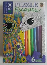 MASTER PIECES Puzzle Escapes Peacock Bird 500 pc Jigsaw with Markers *NEW*