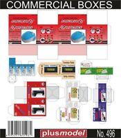 Plus Model 1:35 Commercial Boxes (10.5 x 12.5cm) Paper Diorama Accessory #496