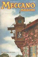 1948 JULY 33590  Meccano Magazine Cover Picture  THE BLACKSMITH'S CLOCK