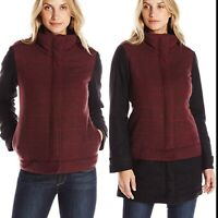 Prana S Small Redberry Caprise Jacket Insulated Removable Trim Wool NWT $198 w