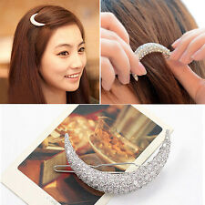 Women's Cute Crystal Rhinestone Moon Headwear Hairpin Clip Jewelry Accessories