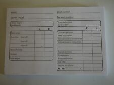 Pad of 100 Manual PAYE Wage Slips. FREE UK POSTAGE AND PACKING