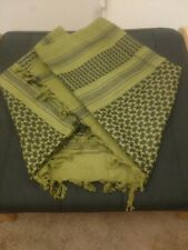 """41.5""""x43"""" Green Middle Eastern Print Scarf Made In Pakistan"""