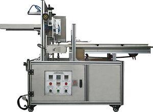 Semi-auto box sealing machine food box carton sealer gluing boxing seal machine
