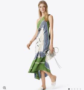 Tory Burch Sloane Silk Dress RUNWAY Garden Party 2018 Hicks NWT $798 size 6
