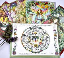 RUOTA DELL'ANNO Altare Card Set pagan wicca Hippy Boho Compleanno Calendario wicca
