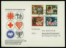 BUND FDC 1963 WOHLFAHRT MÄRCHEN BRÜDER GRIMM FAIRY TALES Nr 408/411 ca39