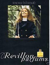 Publicité Advertising 066 1969 Revillon parfum Detchema