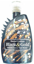 Black & Gold Dark Instant Black Bronzing Tanning Bed Lotion By Devoted Creations