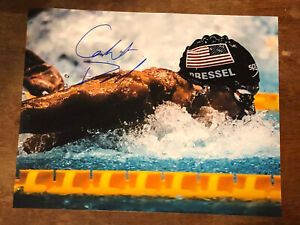 CAELEB DRESSEL HAND SIGNED 8x10 PHOTO USA OLYMPICS SWIMMING AUTOGRAPHED CALEB